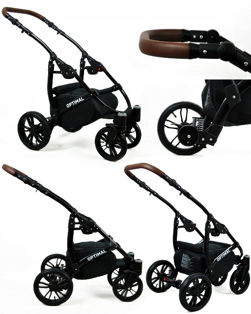 Trojkombinace kočárek Raf-Pol Babylux Optimal Black flex