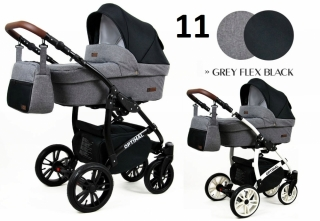 Trojkombinace kočárek Raf-Pol Babylux Optimal Gray flex black