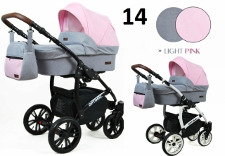 Trojkombinace kočárek Raf-Pol Babylux Optimal Light pink