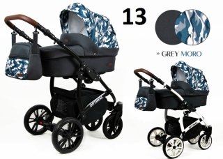 Trojkombinace kočárek Raf-Pol Babylux Optimal grey moro