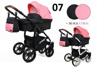 Trojkombinace kočárek Raf-Pol Babylux Optimal Black coral