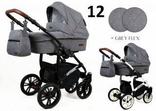 Trojkombinace kočárek Raf-Pol Babylux Optimal Grey flex